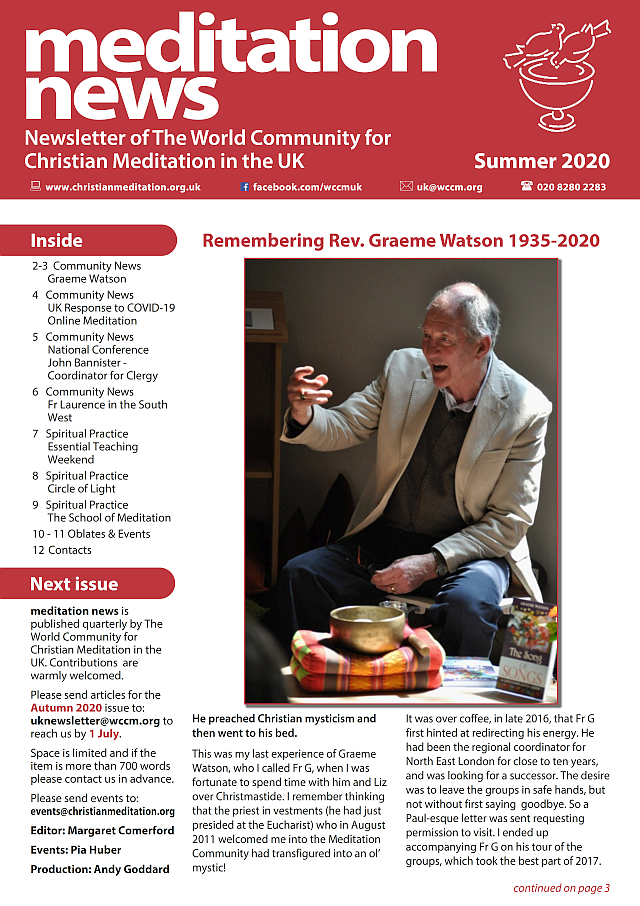2020 Summer UK Newsletter